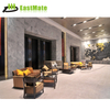 Modern design custom made round wood hotel lobby sofa