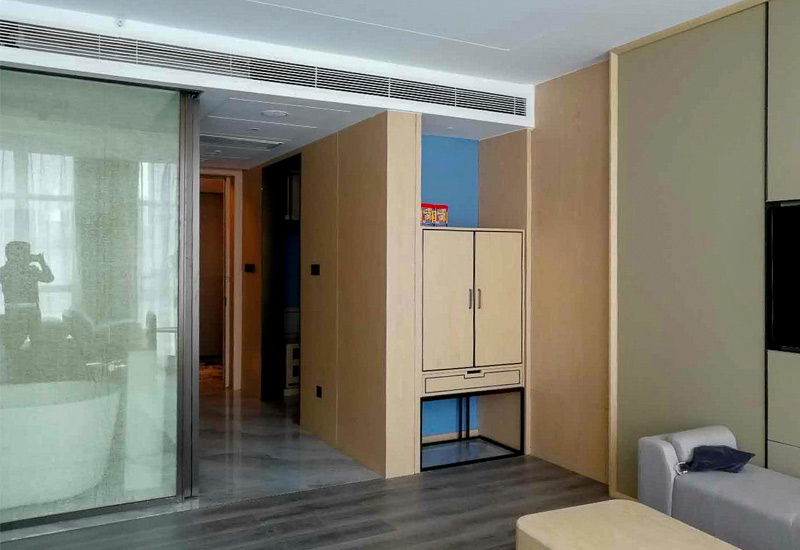 Eco friendly modern interior wall hotel fixed furniture