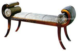 Shunde Manufacturer Custom Made Antique 5 Star Hotel Bedroom Furniture Cheap End Of Bed Bench