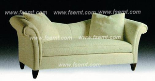 Factory Custom Made Full Fabric Wooden Hotel Lobby Sofa