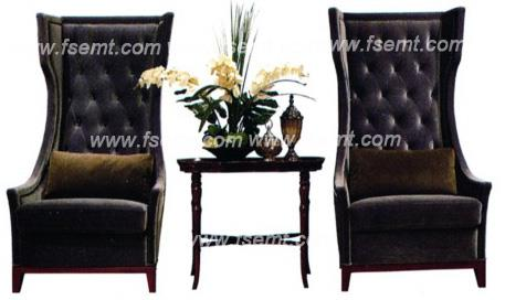 Console Wood Furniture High Back Chair for Star Hotel