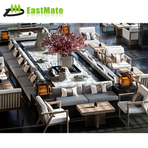ustomized-design hotel furniture wooden hotel lobby sofa set