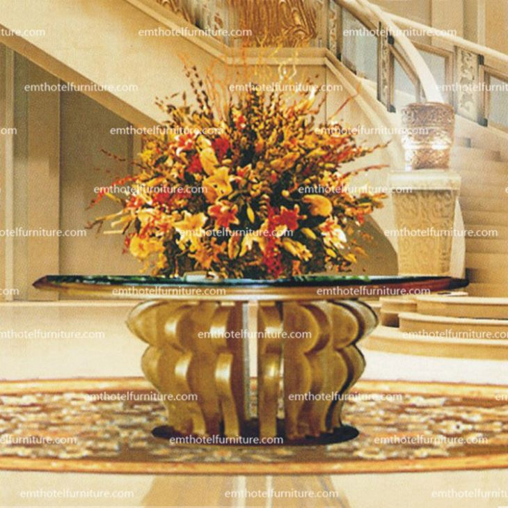 Hotel Furniture China Manufacturer Solid Wood Lobby Table Custom-made Furniture For Sale