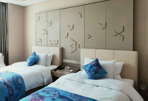Wood Double Bed Designs For Modern Hotel Fixed Bedroom Furniture